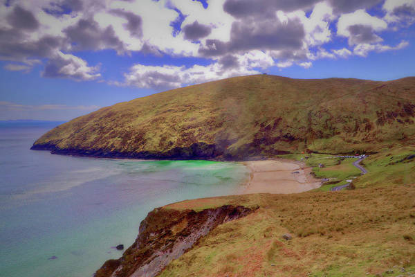 Keem Art Print featuring the photograph Magical Keem Beach Crowned By Clouds From Heaven by Paul Mc Namara
