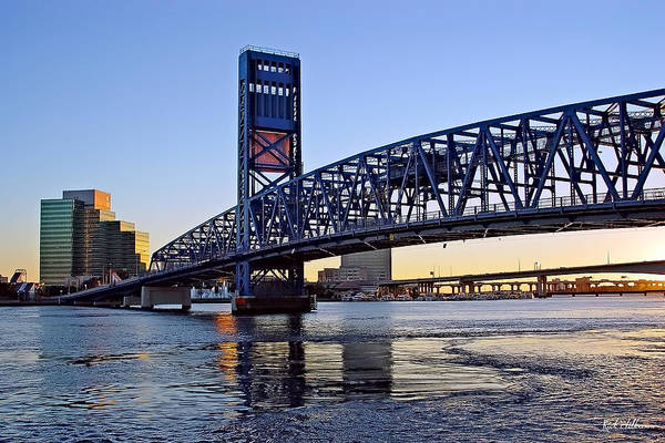 Jacksonville Art Print featuring the photograph Main Street Bridge At Sunset by Rick Wilkerson