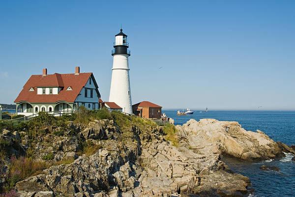 Portland Art Print featuring the photograph Maine Lighthouse by Terry Wieckert