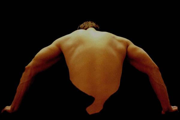 Male Art Print featuring the photograph Male Back Study - 8x12 by B Nelson