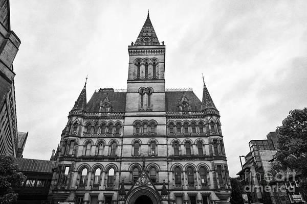 Manchester Art Print featuring the photograph Manchester Town Hall England Uk by Joe Fox