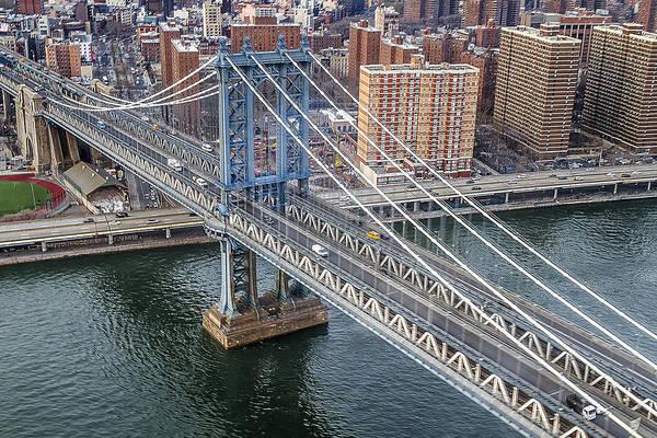 Nyc Art Print featuring the photograph Manhattan Bridge 6413 by Karen Celella