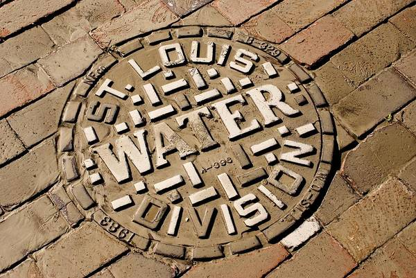 Access Art Print featuring the photograph Manhole Cover In St Louis by Mark Williamson