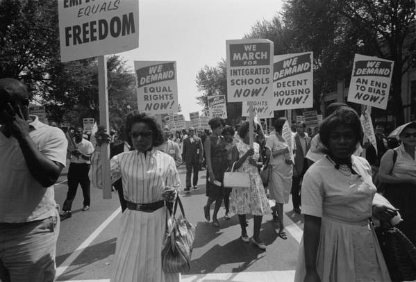 History Art Print featuring the photograph March On Washington. African Americans by Everett