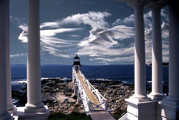 Lighthouses Art Print featuring the photograph Marshall Point Lighthouse Maine by Skip Willits