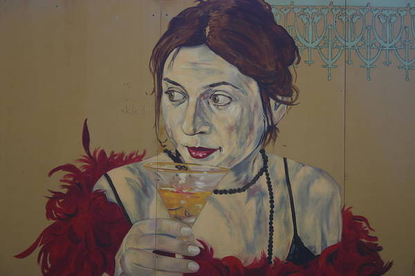 Picture Of Panting Art Print featuring the photograph Martini Women by Dennis Curry
