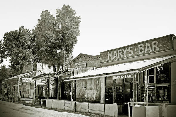 Black Art Print featuring the photograph Mary's Bar Cerrillo Nm by Christine Till