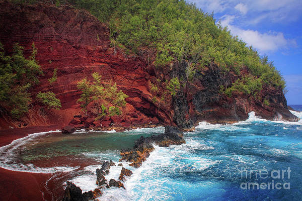 America Art Print featuring the photograph Maui Red Sand Beach by Inge Johnsson