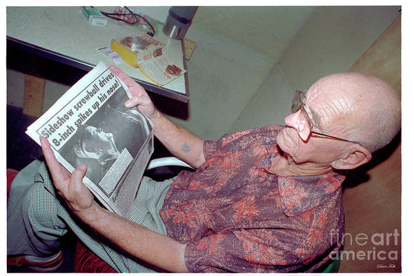 Melvin Burkhart Art Print featuring the photograph Melvin In The News by Diane Falk