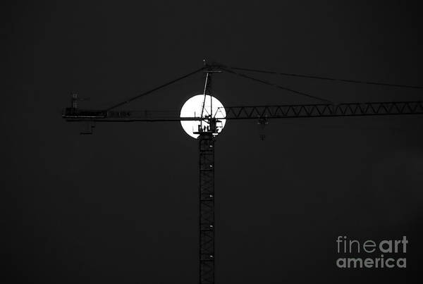 Moon Art Print featuring the photograph Men In The Moon by David Lee Thompson