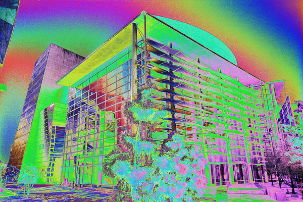 Psychedelic Art Print featuring the photograph Mesa Art Center by Richard Henne