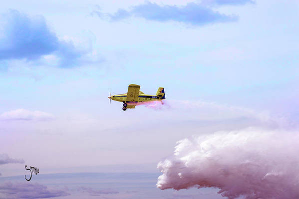 Airplane Art Print featuring the photograph Mission Celeste by Smylo