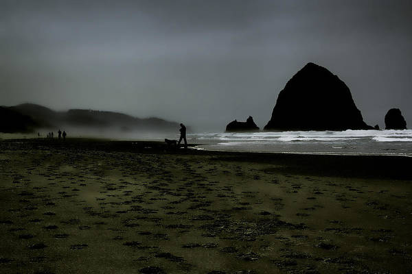 Ccannon Beach Art Print featuring the photograph Mist At Cannon Beach by David Patterson