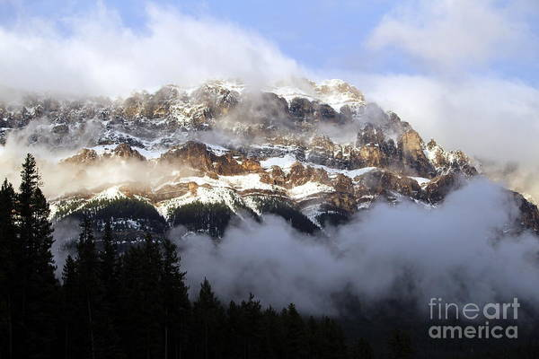 Landscape Art Print featuring the photograph Misty Mountain by Maria Pogoda