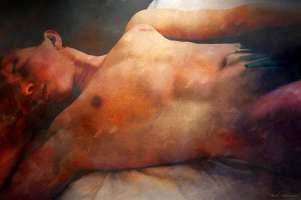 Artistic Nude Print featuring the digital art Modesto by Mark Ashkenazi