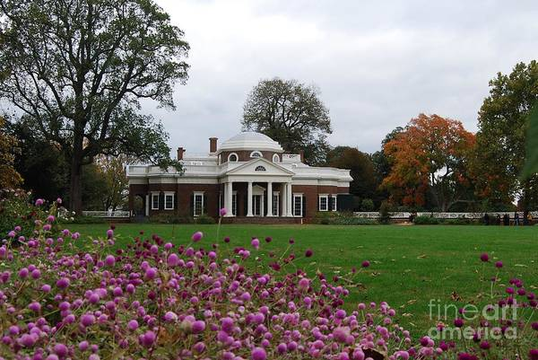 Fall Art Print featuring the photograph Monticello by Eric Liller