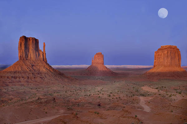 Monument Valley Art Print featuring the photograph Monument Valley At Dusk by Joel P Black