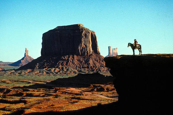 Man Art Print featuring the photograph Monument Valley by Carl Purcell