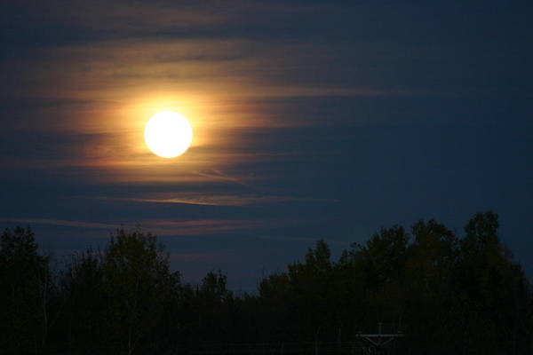 Moon Art Print featuring the photograph Moon Glow by Kevin Dunham