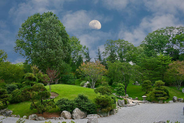 Moon Art Print featuring the photograph Moonrise Meditation by Charles Warren