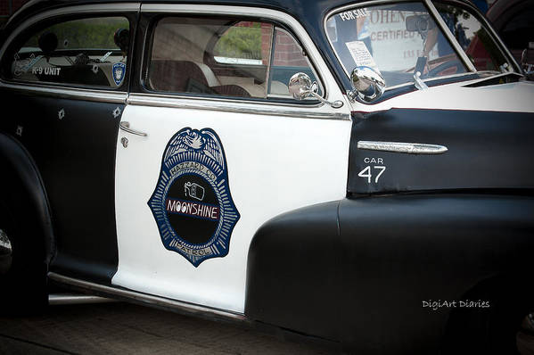 Chevrolet Art Print featuring the photograph Moonshine Patrol by DigiArt Diaries by Vicky B Fuller
