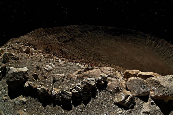 Crater Art Print featuring the photograph Moonwalk by Murray Bloom