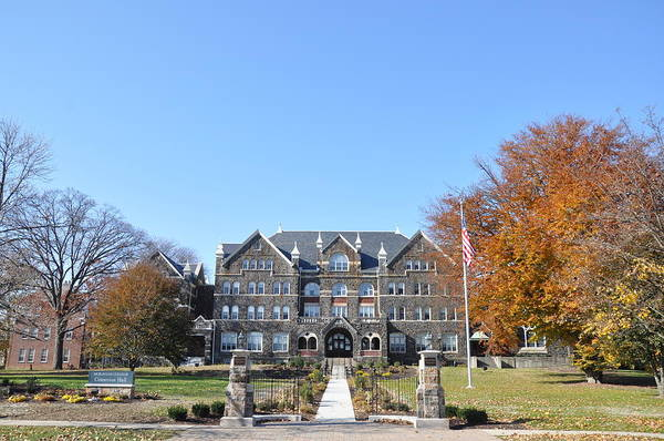 Bethlehem Art Print featuring the photograph Moravian College by Bill Cannon