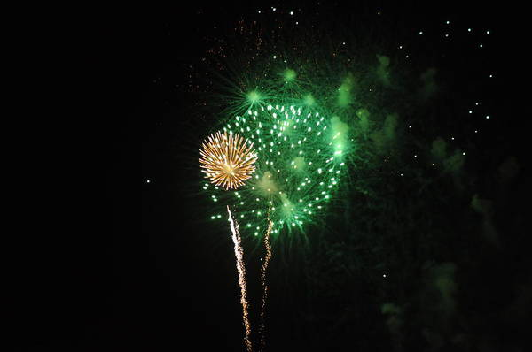 Green Art Print featuring the photograph More Fireworks by Brynn Ditsche