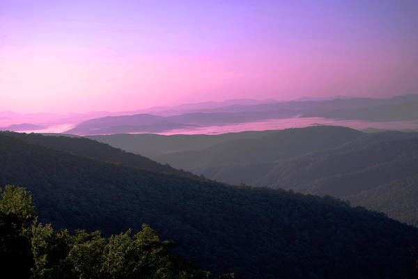Mountains Art Print featuring the photograph Morning At Pisgah by Patricia Motley