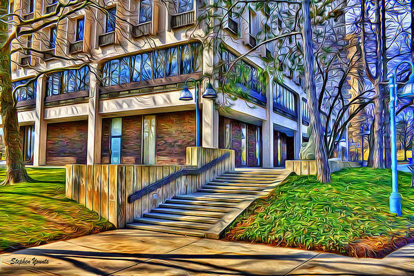 Howard County Art Print featuring the digital art Morning Before Business by Stephen Younts