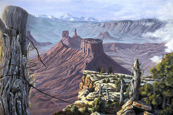 Landscape Art Print featuring the painting Morning Boundaries by Page Holland