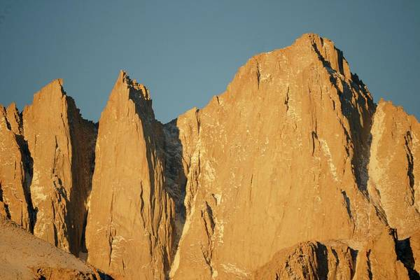 Sierra Nevada Art Print featuring the photograph Morning Light On Mt. Whitney by Michael Courtney