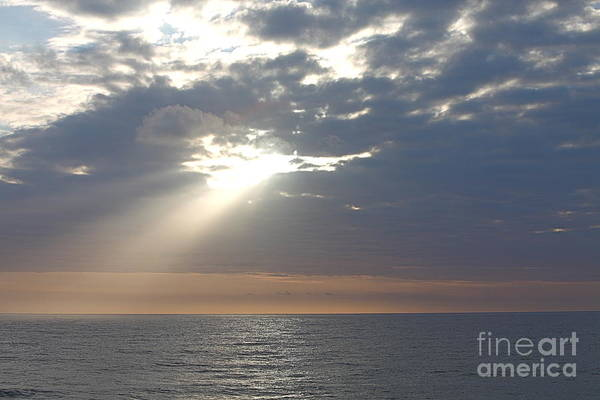 Sky Art Print featuring the photograph Morning Sunburst by Nadine Rippelmeyer
