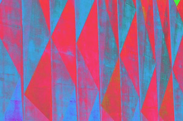 Geometric Pattern Art Print featuring the photograph Mostly Blues And Reds by Richard Henne