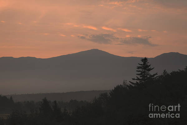 Silhouette Art Print featuring the photograph Mount Washington - Bretton Woods New Hampshire Usa by Erin Paul Donovan