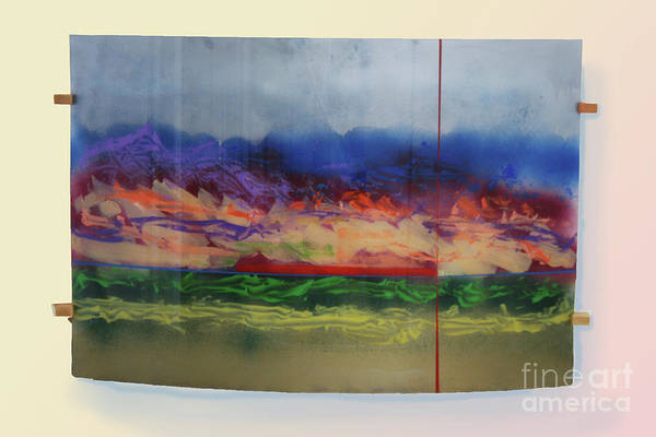 Landscape Art Print featuring the painting Mountain Crossing by Mordecai Colodner