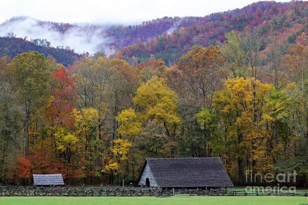 Autumn Art Print featuring the photograph Mountain Farm by Jennifer Robin