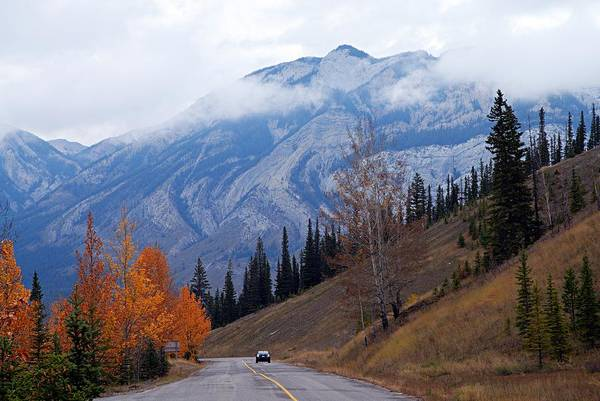 Jasper National Park Art Print featuring the photograph Mountain Road by Larry Ricker