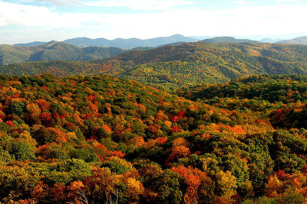 Fall In The Mountains Art Print featuring the photograph Mountains Of Color by Alan Lenk