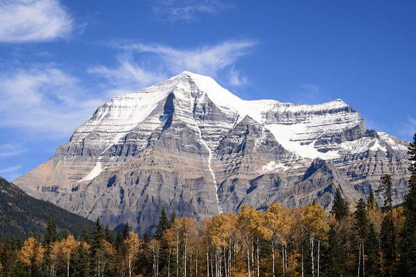 Rocky Mountain Art Print featuring the photograph Mt. Robson- Canada's Tallest Peak by Tiffany Vest