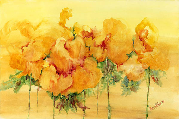Flowers Art Print featuring the painting Multiple Choice by Priscilla Powers