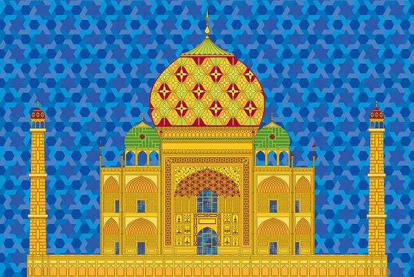 Taj Mahal Art Print featuring the digital art My Taj Mahal by Vlasta Smola