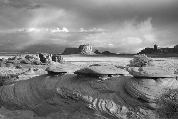 Monument Art Print featuring the photograph Mystery Valley Overlook Ir 0550 by Bob Neiman