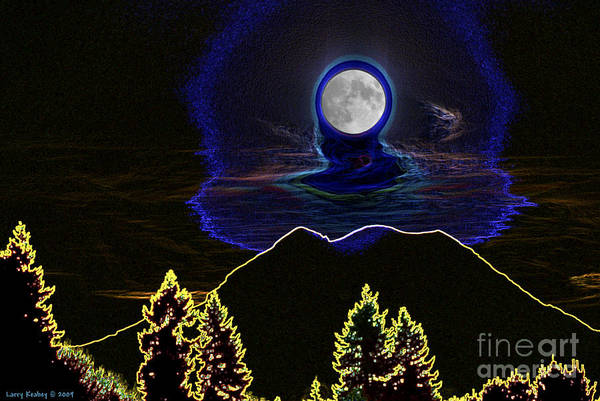 Washington Art Print featuring the photograph Mystic Moon by Larry Keahey