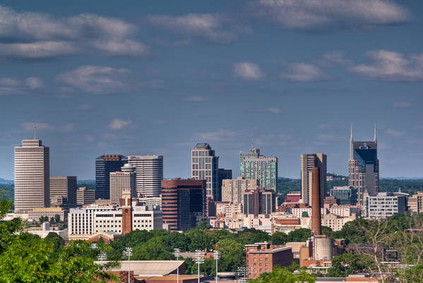 Nashville Print featuring the photograph Nashville Skyline 1 by Douglas Barnett