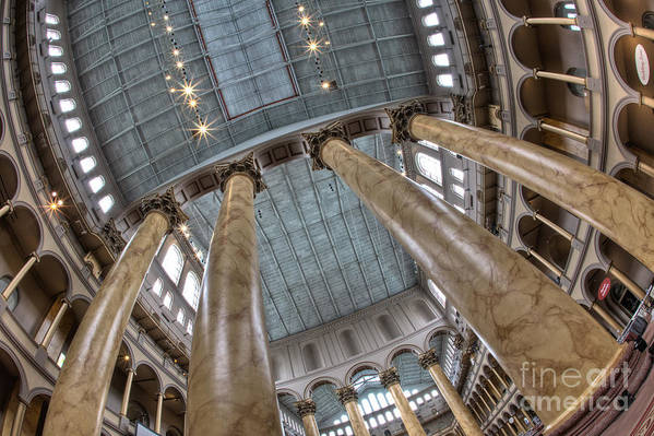 Hdr Art Print featuring the photograph National Building Museum Ix by Irene Abdou