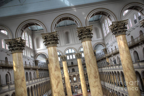 Hdr Art Print featuring the photograph National Building Museum Vi by Irene Abdou