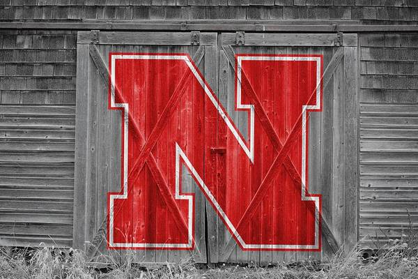Nebraska Cornhuskers Art Print featuring the photograph Nebraska Cornhuskers Barn Doors by Joe Hamilton