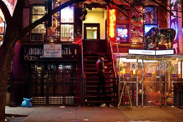 Nyc Art Print featuring the photograph Neon Lights - New York City At Night by Vivienne Gucwa