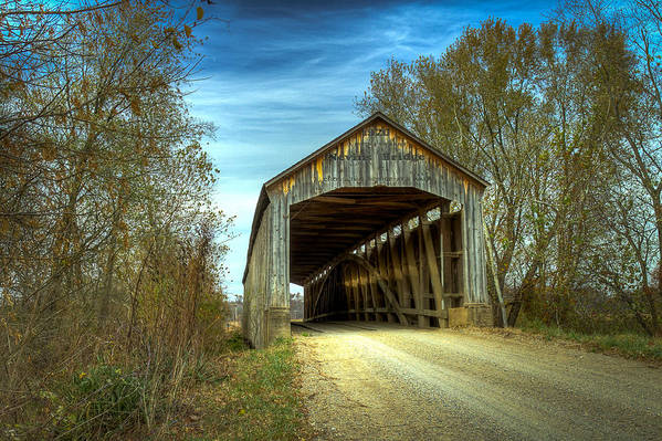 Parke Art Print featuring the photograph Nevins Covered Bridge by Jack R Perry